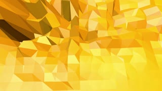 Yellow low poly background pulsating. Abstract low poly surface as crystal grid in stylish low poly design. Polygonal mosaic background with vertex, spikes. Cool modern 3D . Free space