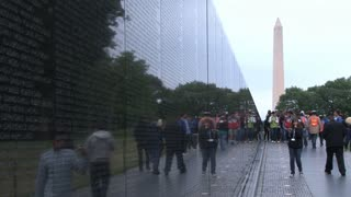 Vietnam Memorial and Washington Monument