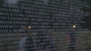 Vietnam Memorial Close Up on Names