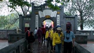 Vietnam Temple Walkway