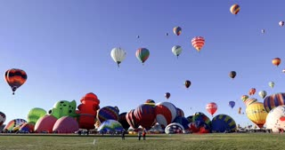View from the ground at Albuquerque Hot Air Balloon Fiesta 2016 in New Mexico