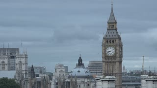 View of Big Ben on Overcast Day in London
