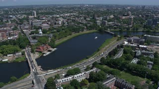View Of Charles River From The Sky, Boston, Massachusetts
