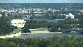 View of Lincoln and Jefferson Memorials and DC Landscape