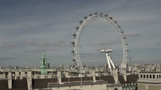 View of London Eye and City
