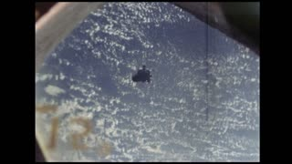 View of Module in Space from Spacecraft