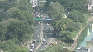 View of Pune Roads From Above