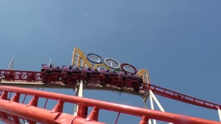 View of Roller Coaster From Below