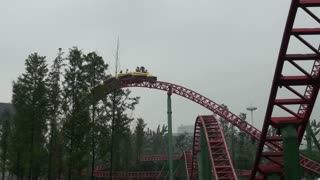 View of Roller Coaster From Ground