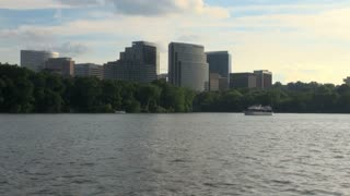 View of Tall Buildings in DC Area From Potomac River