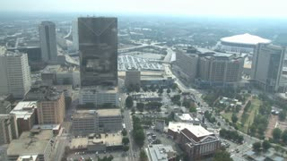 View of The Centennial Tower, CNN Center and Georgia Dome