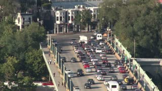View Of Traffic On Downtown Bridge