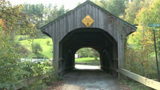 View Through A Covered Bridge