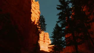 View Up From Canyon In Bryce Canyon National Park