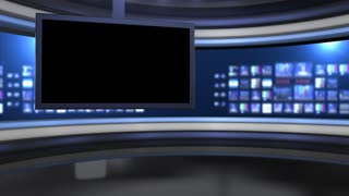 Viewing Monitor On Virtual Set