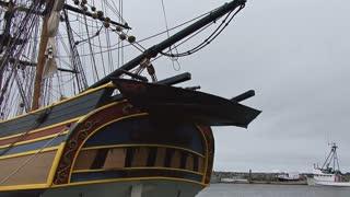 Vintage Docked Ship