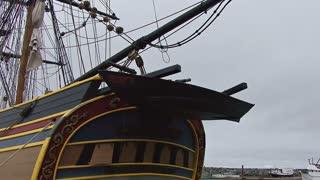 Vintage Square Rigger Boat