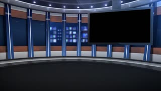 Virtual Evening News Set