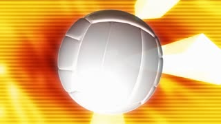 Volleyball On Glowing Orange