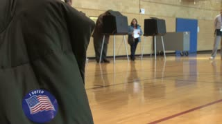 Voting Booths in Gymnasium 3