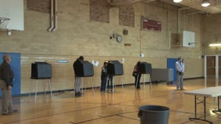 Voting Booths in Gymnasium