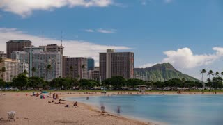 Waikiki Hawaii Beach Time Lapse