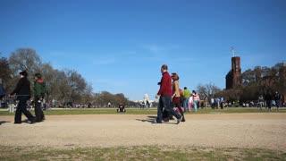 Walking On Open Field In DC