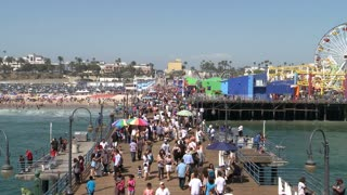 Walking On Santa Monica Pier TL
