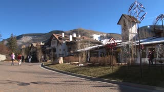 Walkway Outside Vail Resort