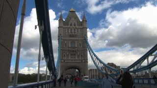 Walkway View Of Tower Bridge