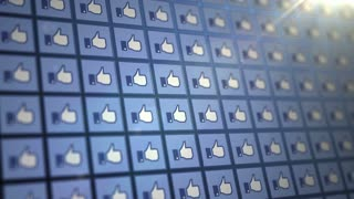 Wall of Facebook Thumbs Up