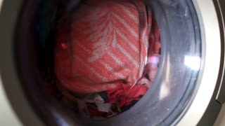 Washing machine. Time lapse.