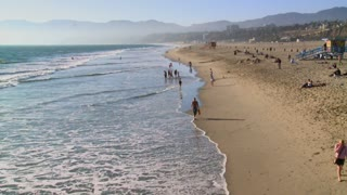 Washing Tide On Santa Monica Beach TL