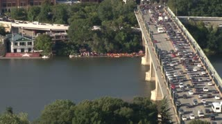 Washington DC Traffic On Bridge