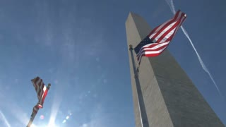 Washington Monument and American Flags 2
