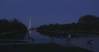 Washington Monument and Reflecting Pool at Night