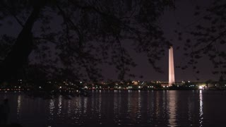 Washington Monument at night 1