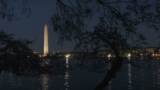 Washington Monument at night 8