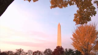 Washington Monument In Fall