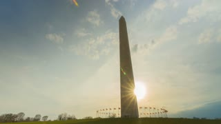 Washington Monument Sunset Panning Time Lapse