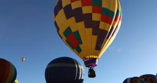 Watching one hot air balloon float past