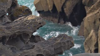 Water Formed Rocks On Coast