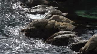 Water On Rocky Shoreline