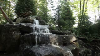 Water stream over rocks 1