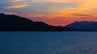 Water View of Alaskan Sunset