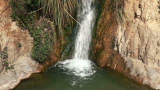 Waterfall from Ein Gedi Splashing