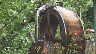 Waterwheel Turning in Slow Motion