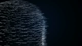 waved surface from words list of famous companies, abstract animation of future