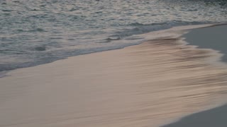 Waves Coming Up Onto Shore in Bermuda