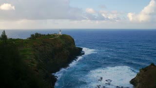 Waves Crashing At THe Kilauea Lighthouse